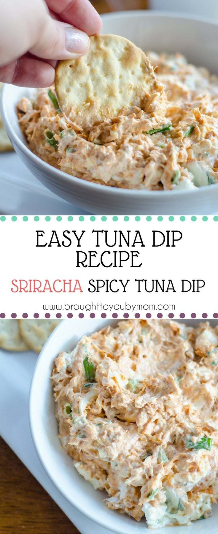 Easy Tuna Dip Recipe with a spicy tuna dip twist with Sriracha. Using Tuna Creations® BOLD Sriracha from StarKist makes this an easy tuna dip recipe to love. (AD)