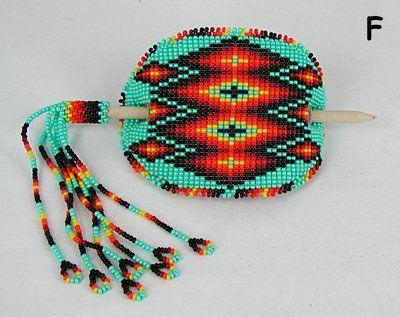 lakota sioux hand beaded stick