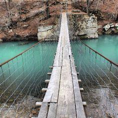Swinging Bridge in Oark, Arkansas
