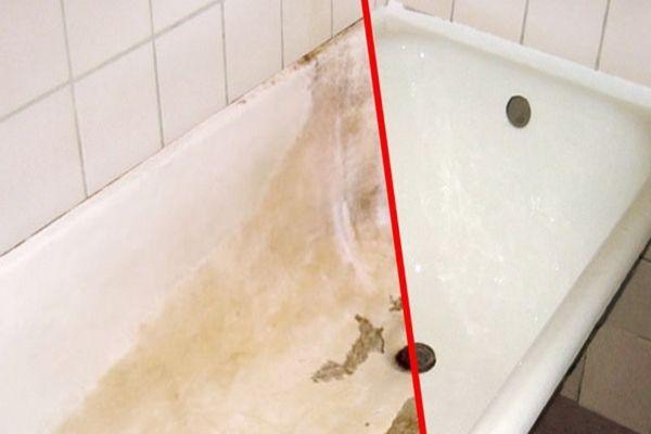 Nem értettem mitől olyan gyönyörű még mindig a több éves fürdőkádja, majd elárulta a titkot! - Tudasfaja.com