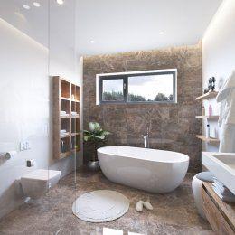 Дизайн проект ванной комнаты с отдельно стоящей ванной