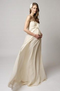 Would love this for maternity photos...  Strapless Ruffles Neck Ruched Bodice Silk #Chiffon #Maternity #Wedding #Gown.$259.00