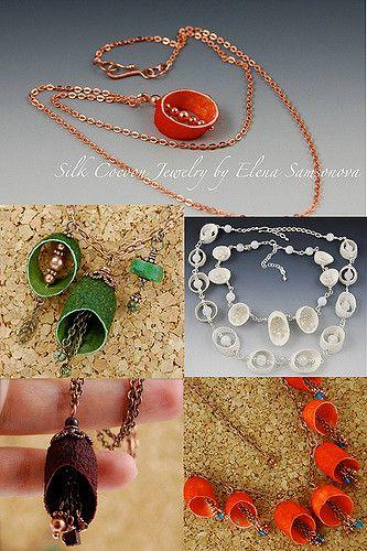 Silk Cocoon Jewelry | My Silk Cocoon Jewelry Collection | Elena Samsonova | Flickr