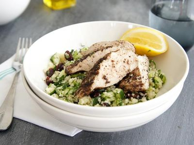 Cranberry and Herb Couscous with Grilled Chicken
