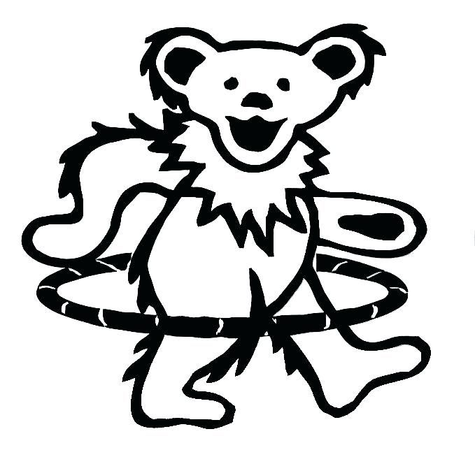 Grateful Dead Bear Coloring Pages Free With Images