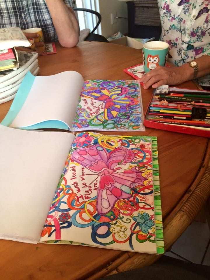 me and my mom in law enjoyed colouring in