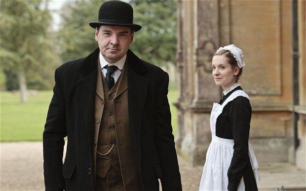 Brendan Coyle with Joanne Froggatt in Downton Abbey.