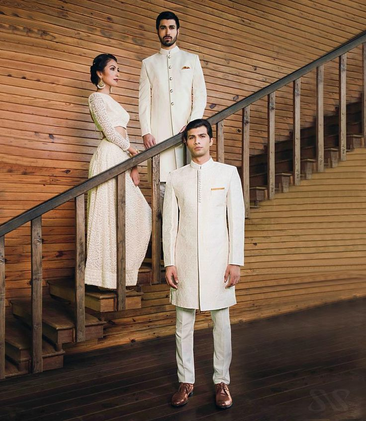 SS HOMME's new all white long Bandhgalas & Sherwanis #wedding #design #ceremonial #embroidered #bandhgala #ornamental