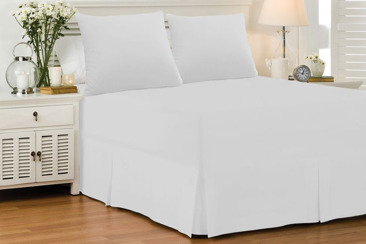 White Fitted Valance Cover Sheet