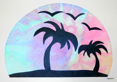 Tippytoe Crafts: Tropical Sunsets with coffee filters