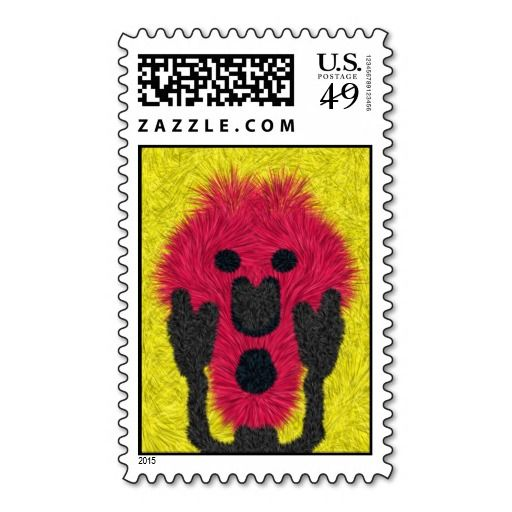 Abstract scream pattern postage stamp