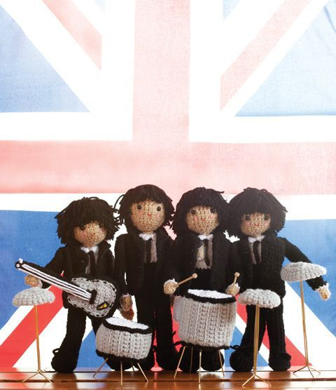 Crocheted Beatles / Музыка нас связала, или Как связать музыку - Ярмарка Мастеров - ручная работа, handmade