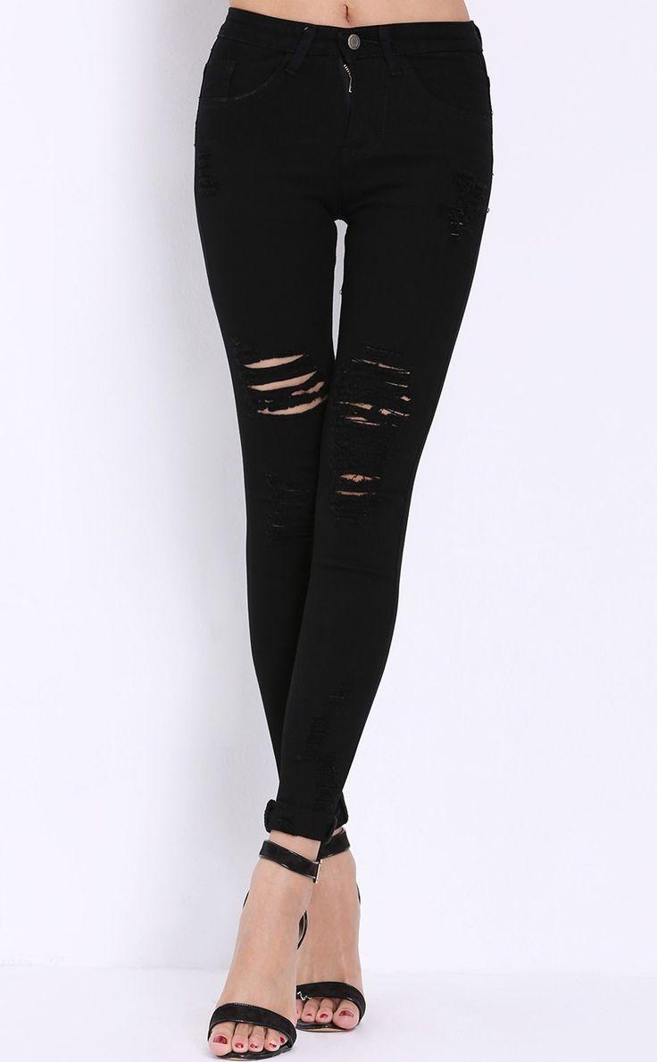 best 25 high waist ripped jeans ideas on pinterest. Black Bedroom Furniture Sets. Home Design Ideas