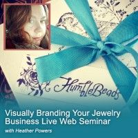 How to Visually Brand Your Jewelry Business - Live Webinar - Learn how to take your jewelry business to the next level by using mood boards and free online resources to create striking visual images to promote your business.