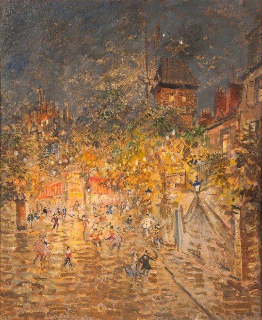Константин Коровин/ Constantin Korovine (1861-1939)    Fête nocturne près du Moulin de la Galette
