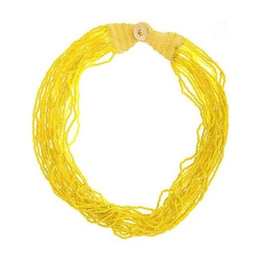 Żółty naszyjnik zielonykot-pl bialy