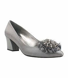 J renee navy blue dress shoes 4e