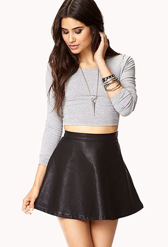 25  best ideas about Leather skater skirts on Pinterest | Polka ...