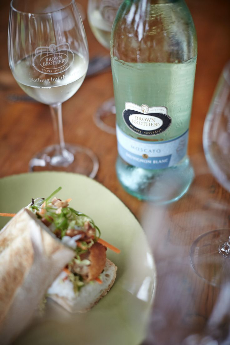 Make you own Bánh mì pork rolls at home and serve them with Moscato & Sauvignon Blanc.