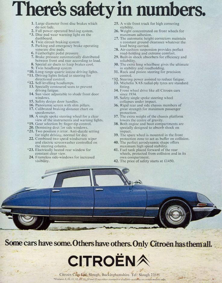 "Remember this ad? ""Some cars have some. Others have others. Only Citroën has them all."" * Love these cars!"