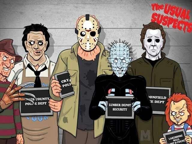 Freddy Vs Jason Vs Chucky Vs Michael Myers Vs Pinhead The Usual Suspects - F...