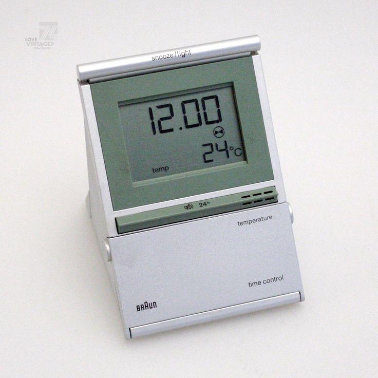 BRAUN Funkwecker Time Control Type 3875 DB12 Thermometer Alarm Wecker Funkuhr