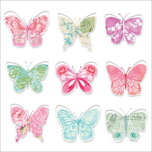 Painted Butterflies. All of the butterflies have pop-out wings to bring this card to life. Buyany 10 cards for £14. Shop now: http://tinyurl.com/z4w6qwv