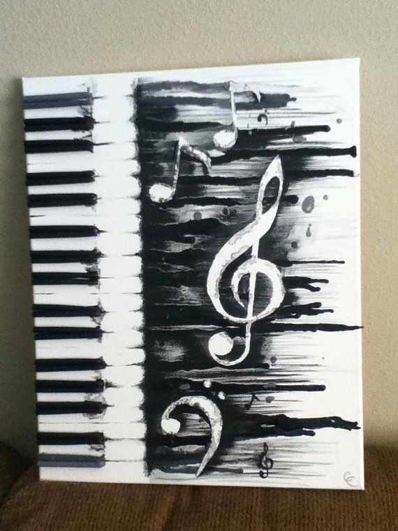 melted crayon music note