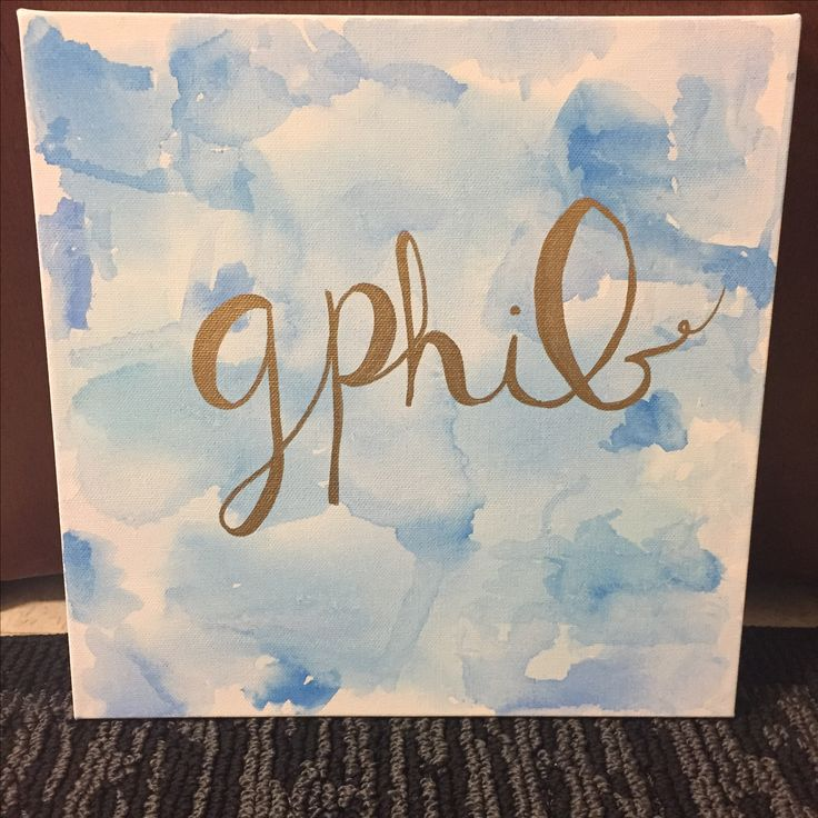 Gamma Phi Beta Watercolor Canvas