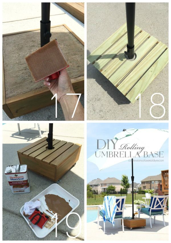 Diy Rolling Umbrella Base Patio Umbrellas Diy Diy Umbrella Base Outdoor Umbrella Stand