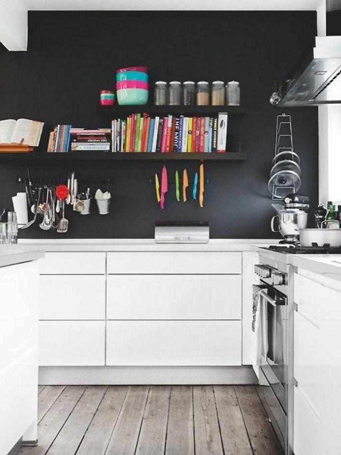 peinture acrylique sur glycero dans la cuisine avec sol en planchers en bois - Peinture Acrylique Ou Glycero Difference