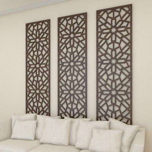 640 AED (236.54) each Wooden Mashrabiya Panel MPDW03