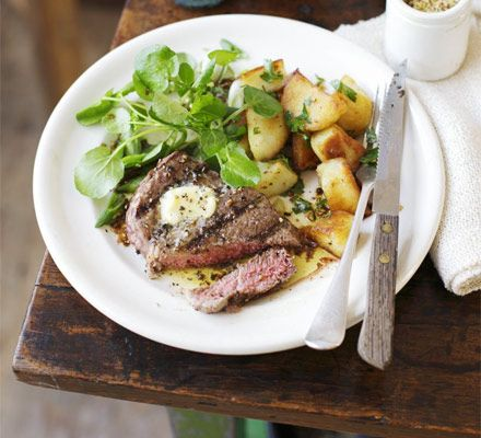 This supper is for two, so push the boat out on a prime cut of beef- great for a weekend night in
