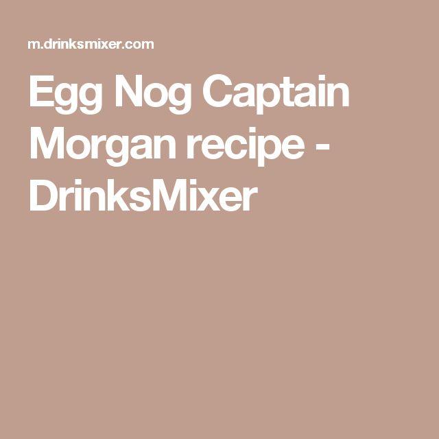 Egg Nog Captain Morgan recipe - DrinksMixer