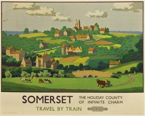 Somerset - The holiday county of infinite charm - British Railways - 1950's - (A. Tripp) -