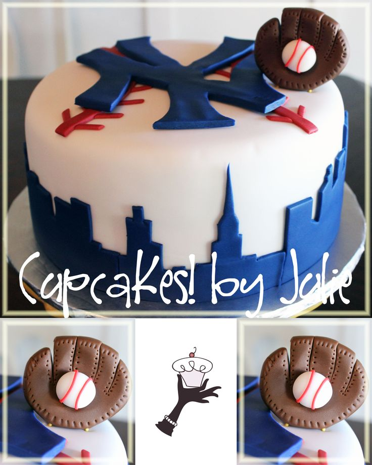 21 Best Yankees Cakes. Images On Pinterest