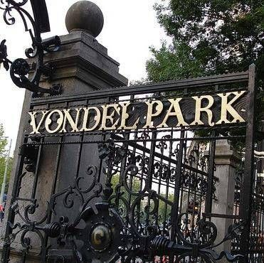 """"""" the Filosoof was right next to the Vondelpark, Amsterdam's most famous park.""""(11.157) After finally arriving at Amsterdam Hazel, Augustus, and Hazels's mother check into the hotel. It is located next to this park."""