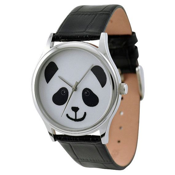 A cartoon panda on the watch face, is it cute, I love it so much! Do you?    Products Details :    Stainless steel case Citizen miyota movement 30