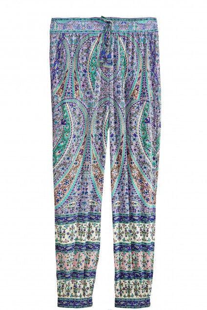 Appoline Printed Silk Pant  | Calypso St. Barth