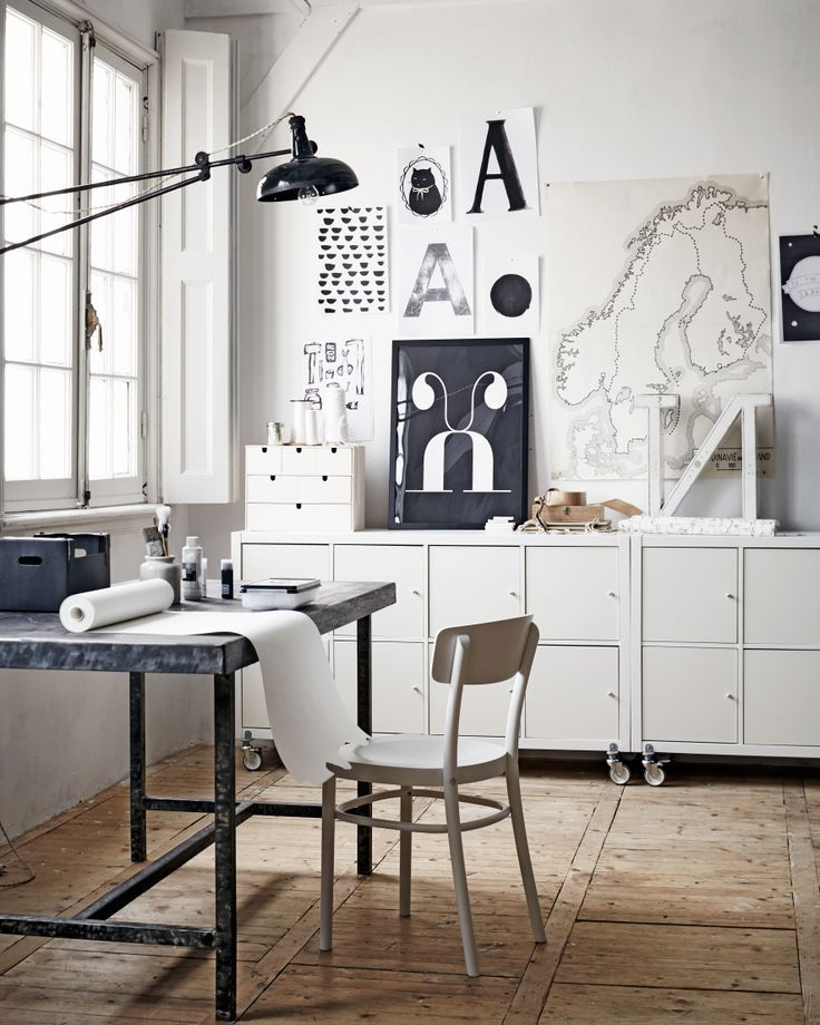 black and white industrial creative space | work space