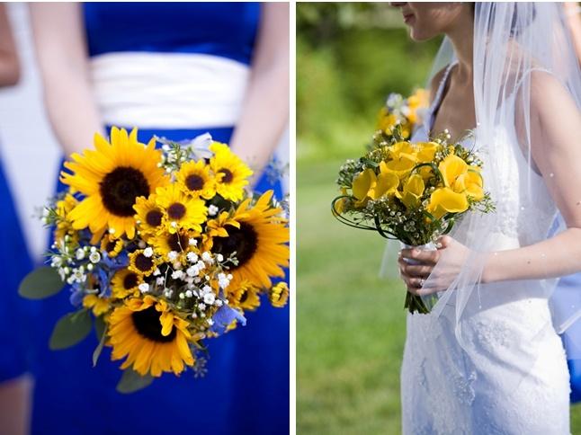 Royal Blue And Sunflower Wedding