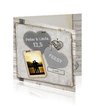 Moderne uitnodigingskaart voor een koperen bruiloft