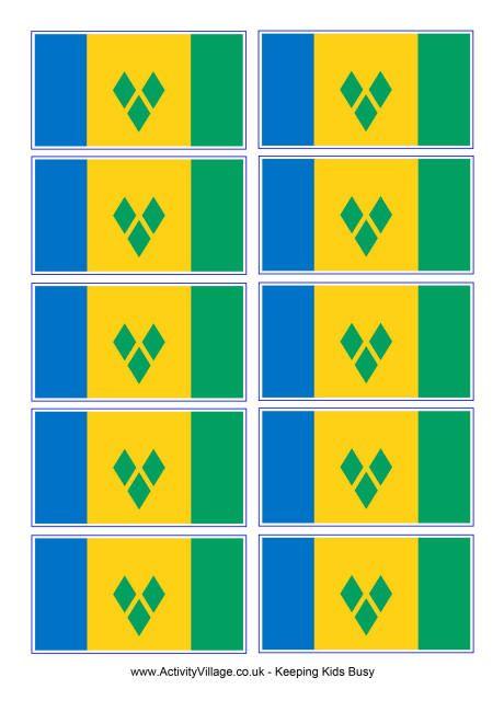 St Vincent flag printable
