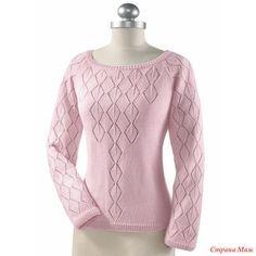 """Добрый день страномамочки! Очень понравился пуловер. Теперь в моих планах связать для себя. Нашла его на страницах сайта """"Вконтакте"""". Делюсь описанием."""