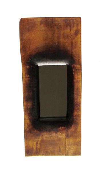 http://it.dawanda.com/product/39557062-TOTEM Specchio realizzato in legno di quercia lavorato e rifinito a gommalacca e cere naturali.