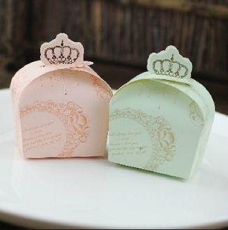 Wedding Favor Box with Crown  #wedding favors #favor box