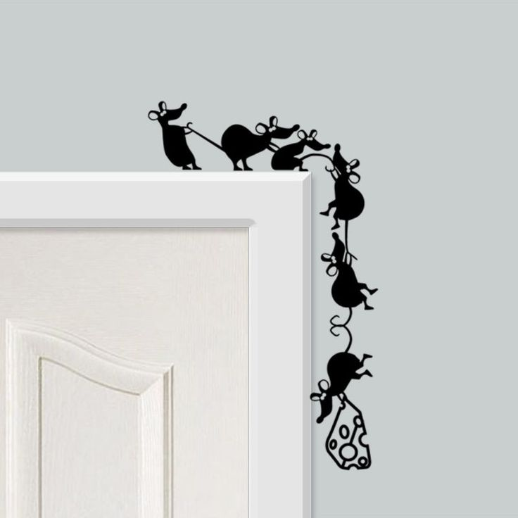 Funny Climbing Cheese Mice Vinyl Wall Stickers For Walls, Doors U0026 Skirting Part 85