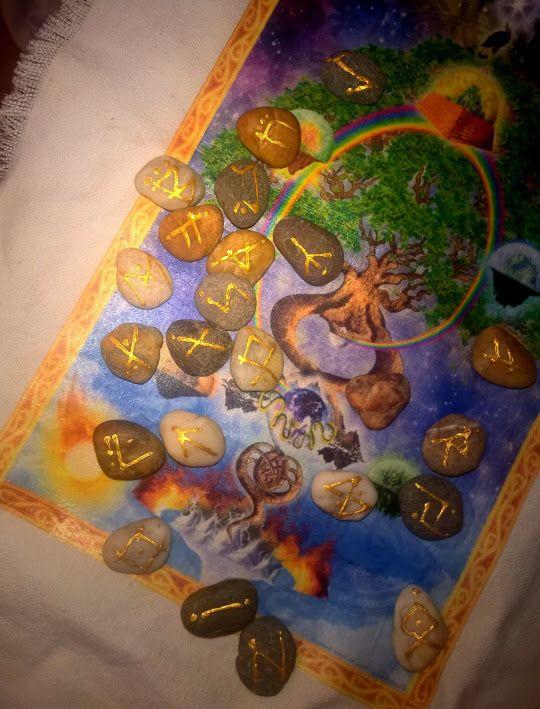 RUNE STONES by famous esoteric master, HANDMADE - SALE! * According to mythology: spiritual stones, gift from god Odin. Made by Ilona Éva - Evvalena di Reirossi, spiritual teacher, writer.
