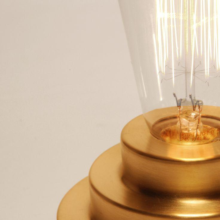 Satin brushed brass, Podium Lamp