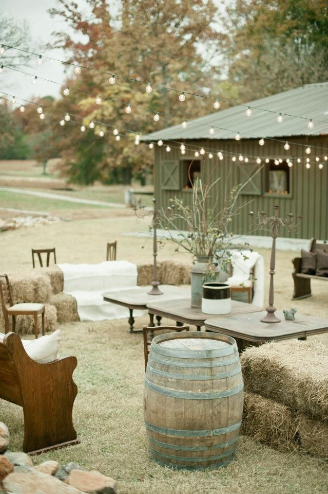 Rustic outdoor setting - for all your hoedown needs.